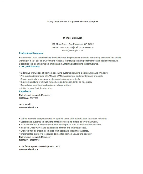 9+ Engineering Resume Templates - PDF, DOC Free  Premium Templates