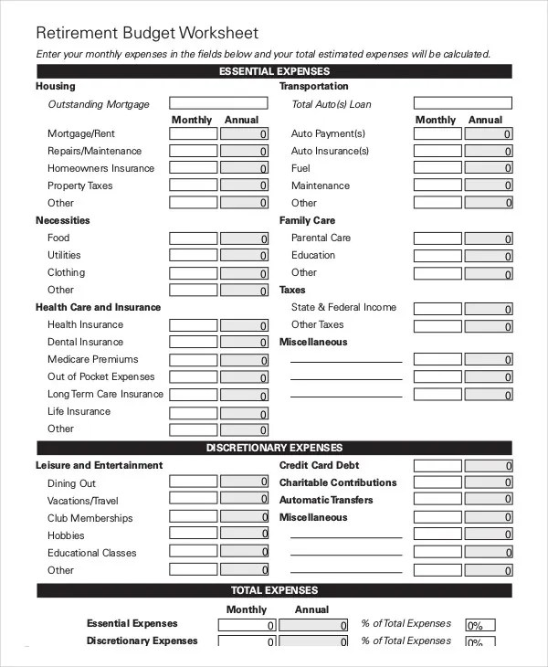 Monthly Apartment Budget Worksheet - Latest BestApartment 2018 - Apartment Budget Sheet