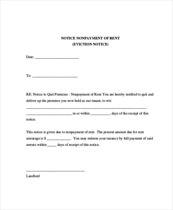 Eviction Letters - 7+ Free PDF, Word Documents Download Free