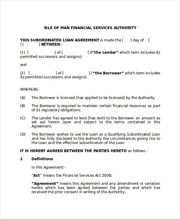 Subordination Agreement Template Earn Out Agreement Earn Out - subordination agreement template