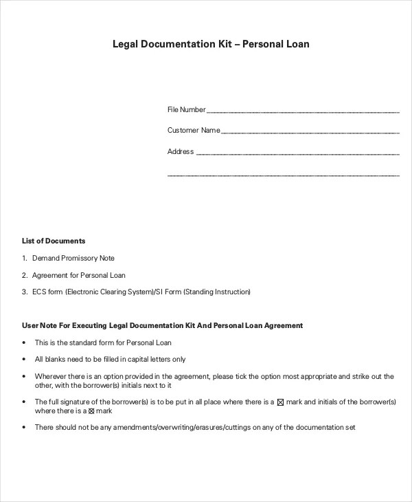 Loan Agreement - 10+ PDF, Word Documents Download Free  Premium