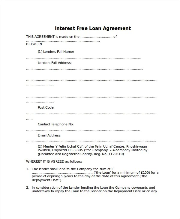 13+ Loan Agreement Templates - Word, PDF, Pages Free  Premium