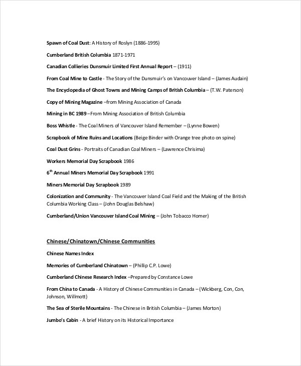 Reference List - 8+ Free PDF, Word Documents Download Free - reference word template