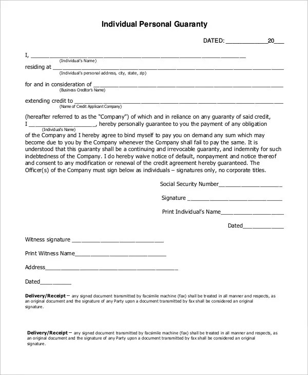 Letter of Guarantee - 15+ Free Sample, Example, Format Free - guarantee letter