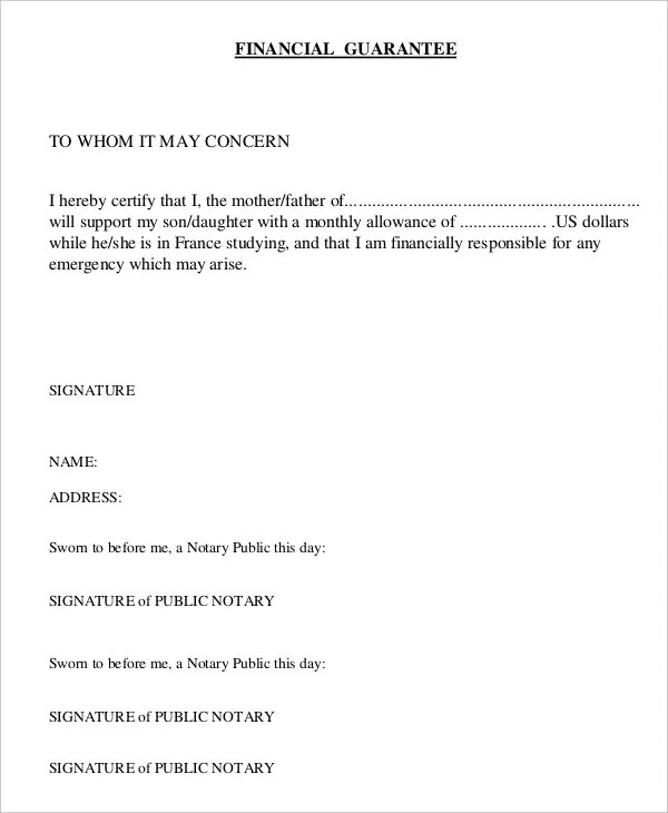 Letter of Guarantee - 15+ Free Sample, Example, Format Free