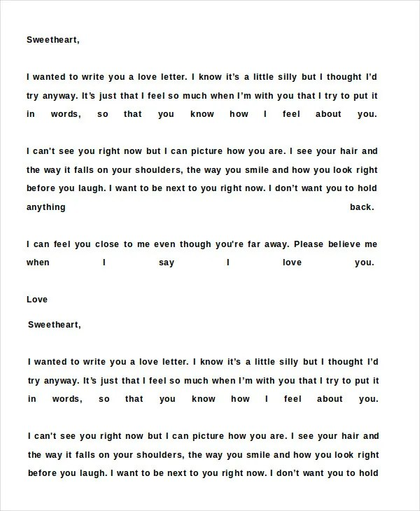 Romantic Love Letter - 5 Free Word Documents Download Free - romantic love letter