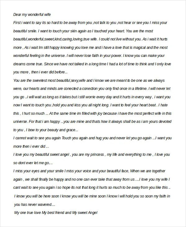 Romantic Love Letter - 5 Free Word Documents Download Free