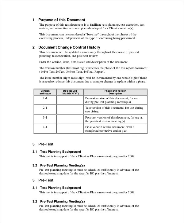 Bcp Test Plan Template Choice Image - Template Design Ideas - free business continuity plan template