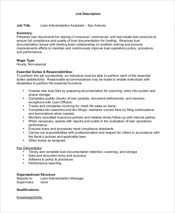 ... Loan Officer Job Description Loan Officer Resume Loan Officer   Debt  Collector Job Description ...