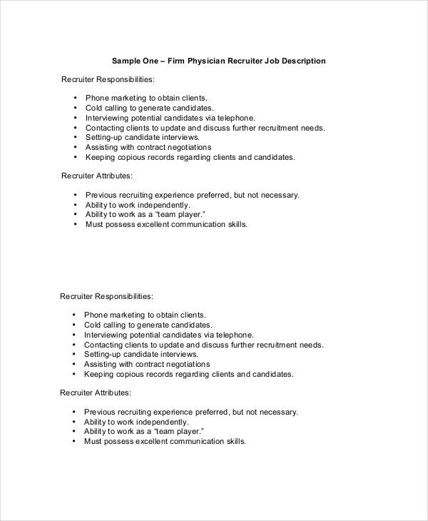 Physician Job Description - Free Sample, Example, Format Free - physician job description
