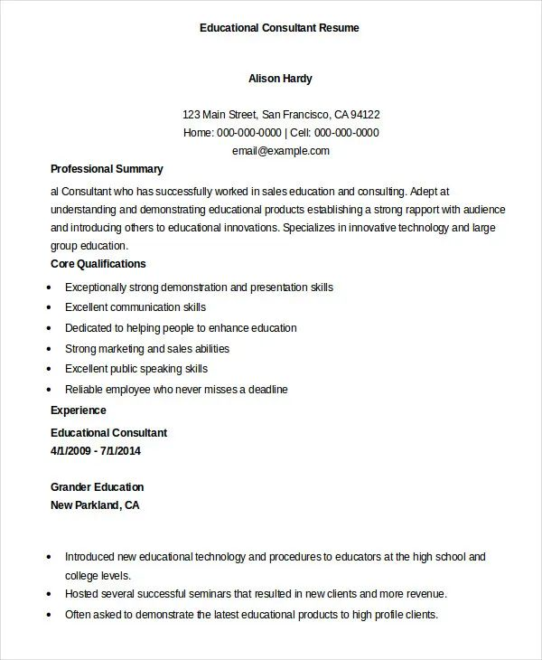 resume format doc with experience