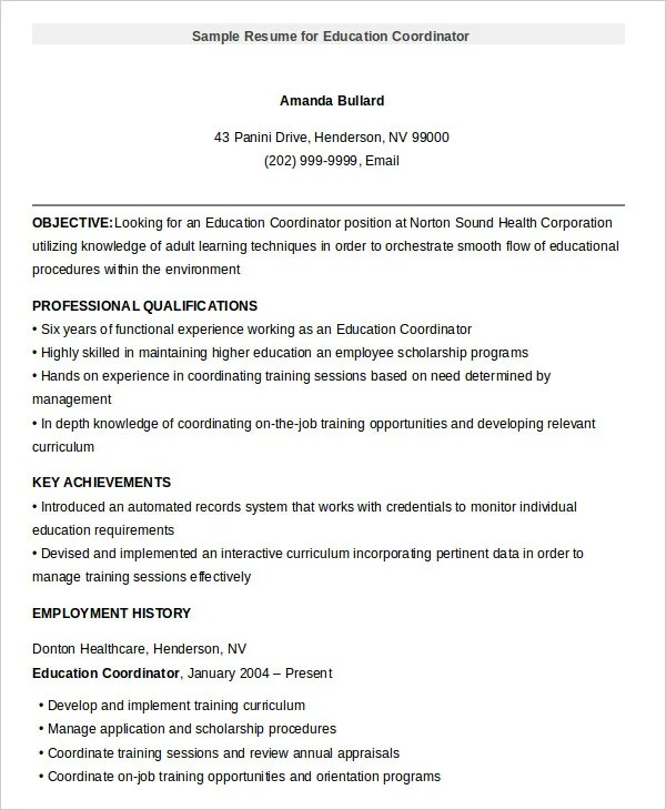 10+ Education Resume Templates - PDF, DOC Free  Premium Templates - resume education