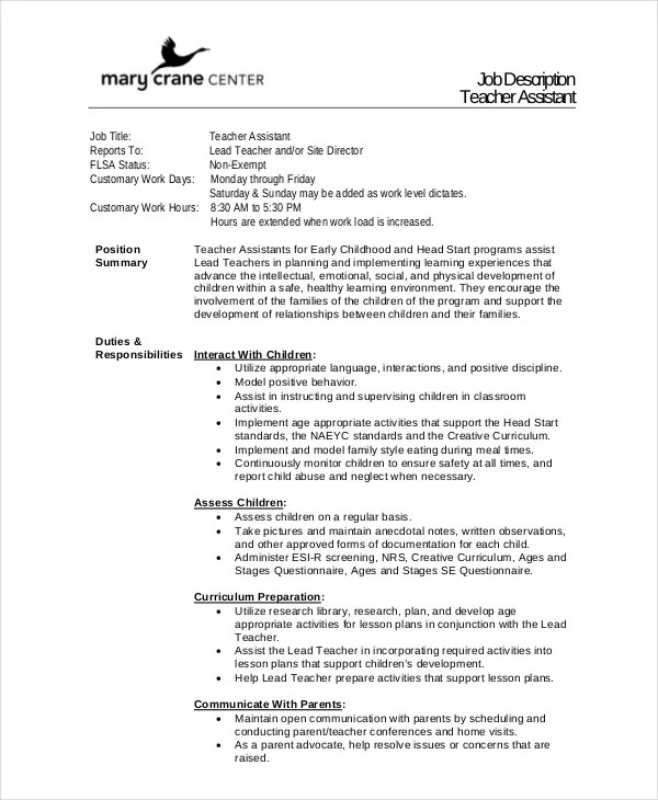 Job Description Outline Template | Resume Format For Software