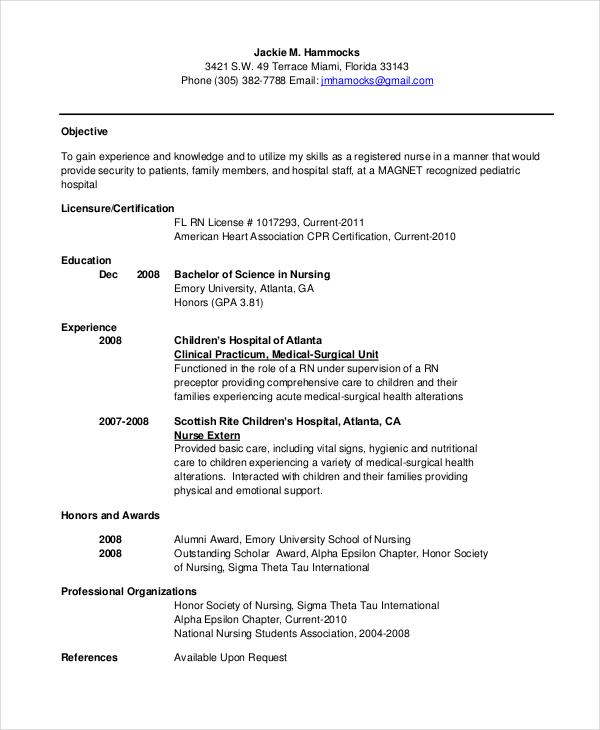 Child Development and Education new graduate bsn resume Mba - new graduate nurse resume