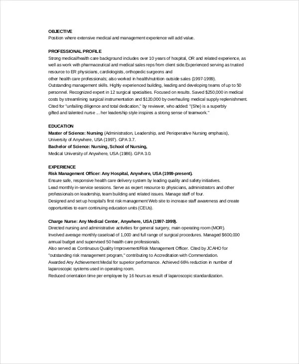 11+ Nurse Resume Templates - PDF, DOC Free  Premium Templates - resource nurse sample resume