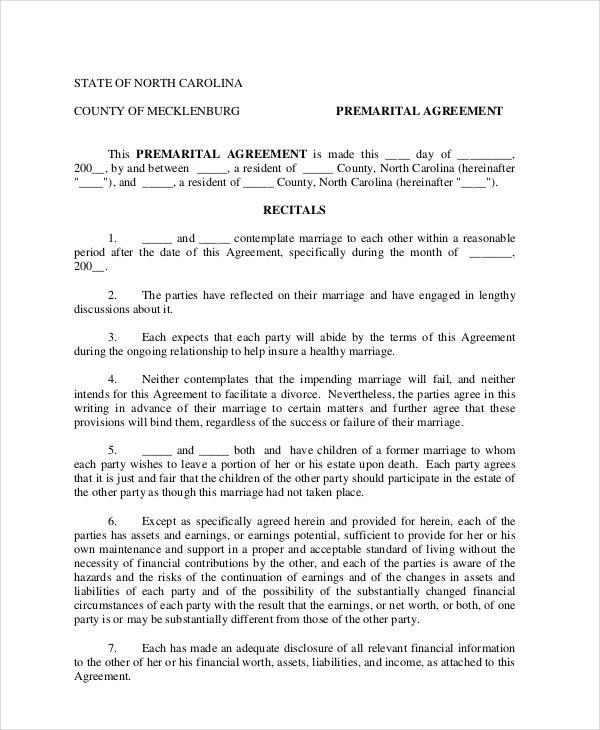 6+ Prenuptial Agreement Samples - Free Sample, Example, Format