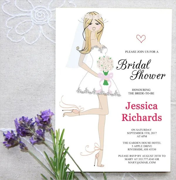 23+ Bridal Shower Invitation Templates - Free PSD, Vector AI, EPS