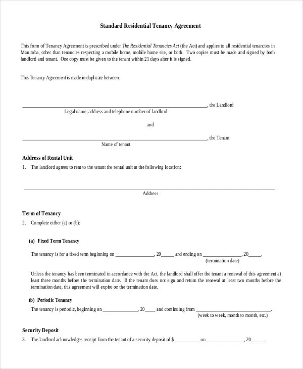House Rental Agreement - 10+ Word, PDF Documents Download Free - house rental contract