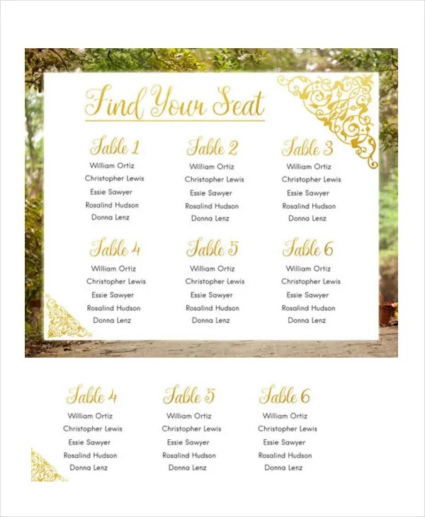 Wedding Guest List Template - 9+ Free Word, Excel, PDF Documents - party guest list template