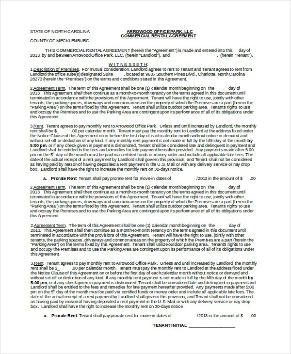 Month To Month Lease Agreement - 7+ Free PDF, Word Documents - month to month lease agreements