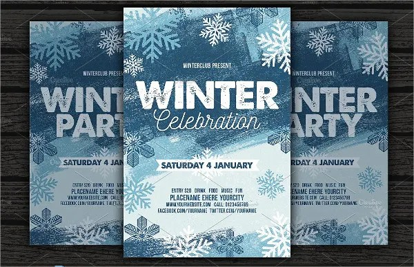 20+ Free Party Flyer Templates - Free PSD, Vector AI, EPS Format - winter flyer template