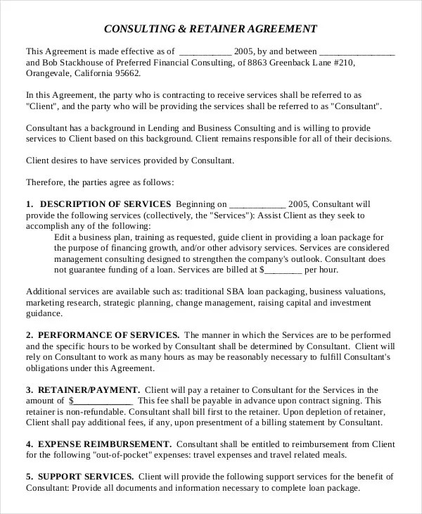 Consulting Agreement - 11+ Free Word, PDF Documents Download Free