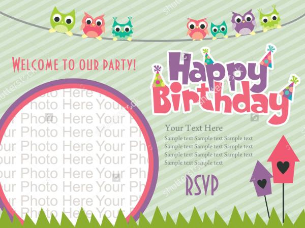 30 Beautiful Kids Birthday Invitations Psd Eps Ai