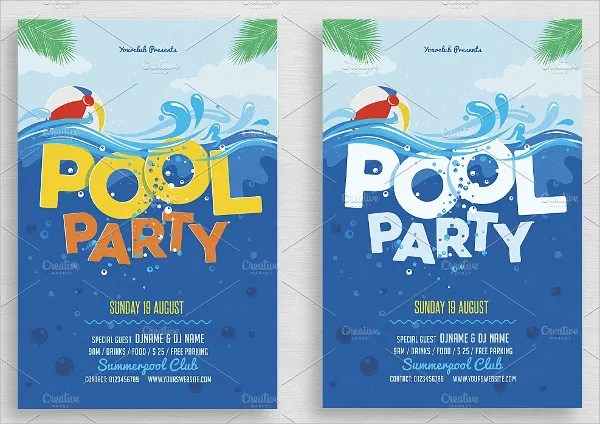 28+ Pool Party Invitations - Free PSD, Vector AI, EPS Format