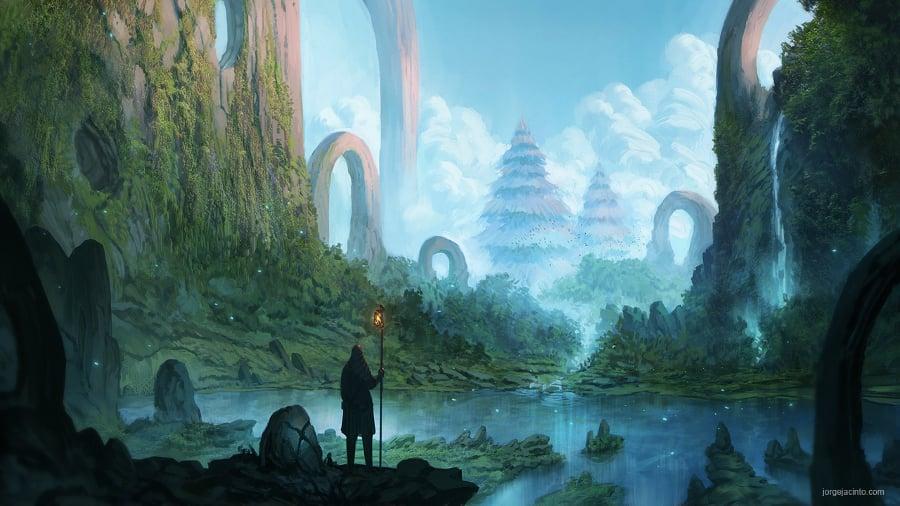 Seahorse Hd Wallpaper 21 Fantasy Landscape Illustrations Free Amp Premium Templates