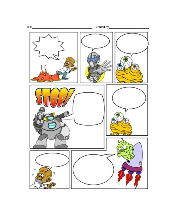 Comic Strip Template - 7+ Free PDF, PSD Documents Download Free