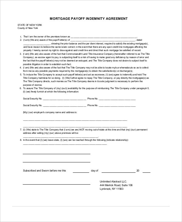 sle indemnity agreement - 28 images - sales agreement letter sle sle - indemnity agreement template