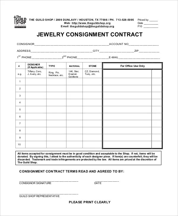 12+ Sample Consignment Agreement Templates - Word, PDF, Pages Free