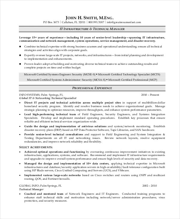 7+ Operations Manager Resume - Free Sample, Example, Format Free