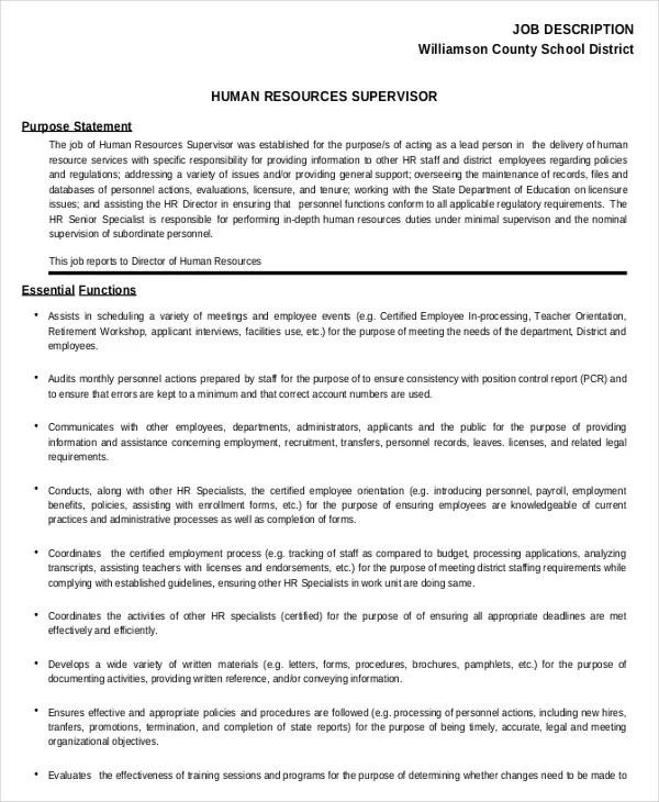 hr assistant job description 10 free word pdf documents payroll administrator job