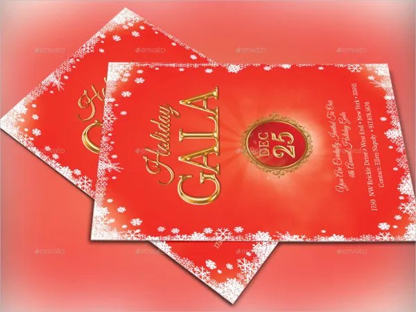 20+ Holiday Invitations - Free PSD, Vector AI, EPS Format Download - gala invitation template