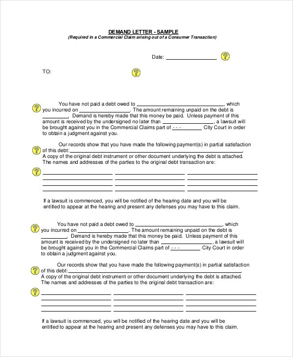 Demand Letter Sample - 14+ PDF, Word Download Documents Free - sample demand letters
