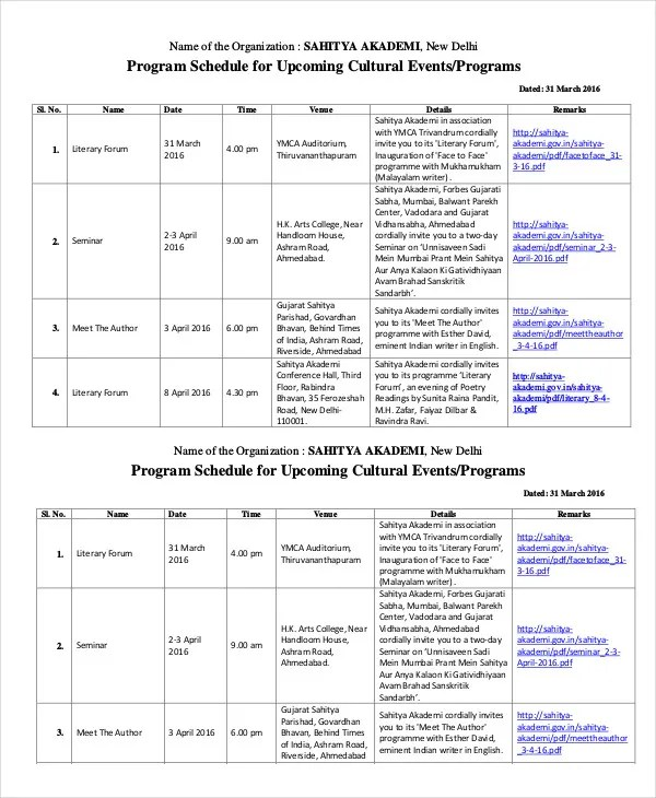 Event Program Template - 37+ Free Sample, Example, Format Free