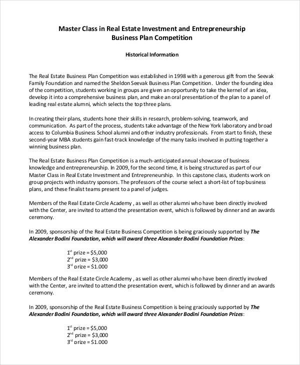 Real Estate Business Plan - 11+ Free PDF, Word Documemts Download - real estate business plan