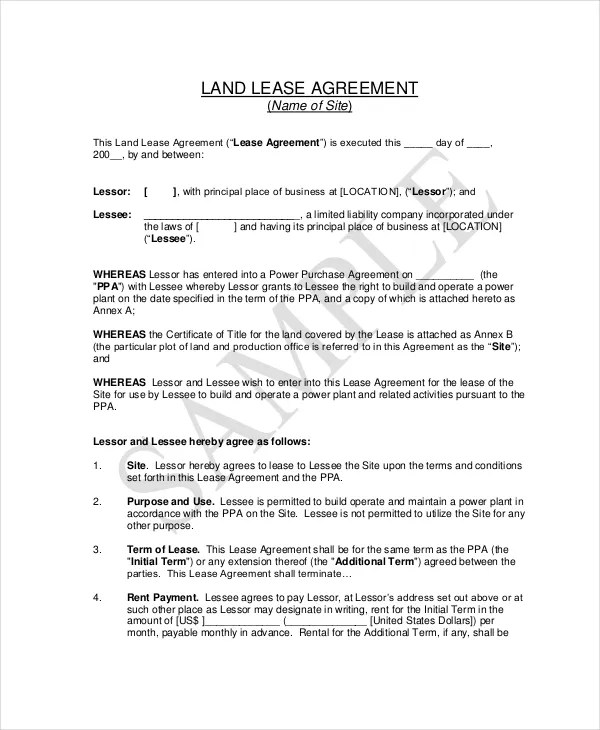 Basic Lease Agreement Example - 9+ Free Word, PDF Documents Download - basic lease agreement