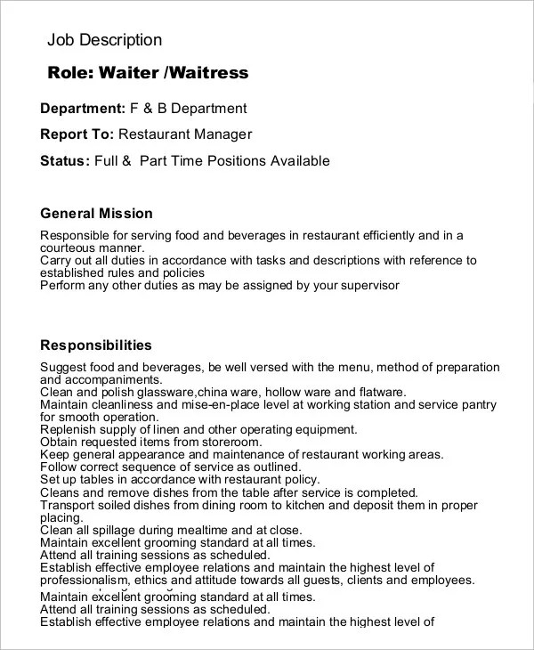 Sample resume for food and beverage attendant - Food And Beverage Attendant Sample Resume