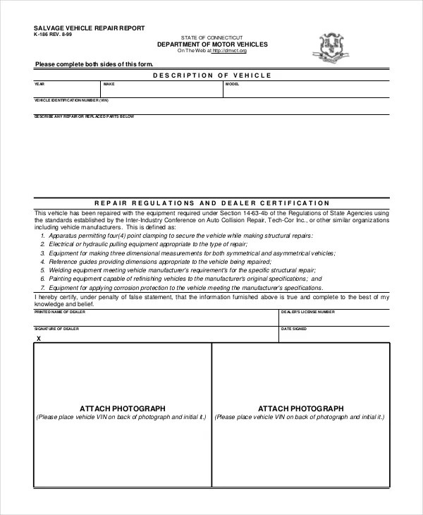 Free Vehicle Report - 13+ Free PDF, Word Documents Download Free - it report template