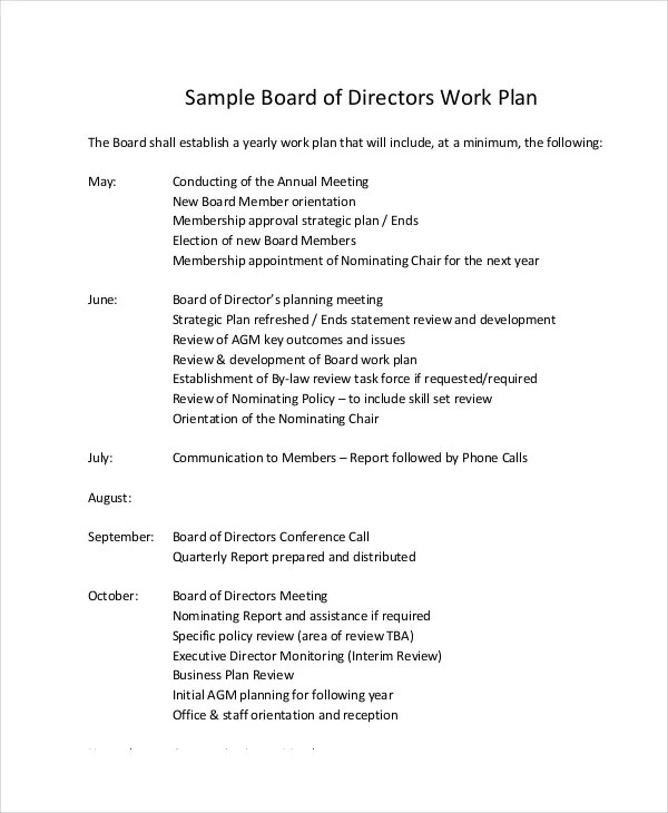 Work Plan Template Undp | Cv Sample Online