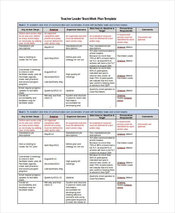 Work Plan Template - 12+ Free PDF, Word Documents Download Free - sample work plans