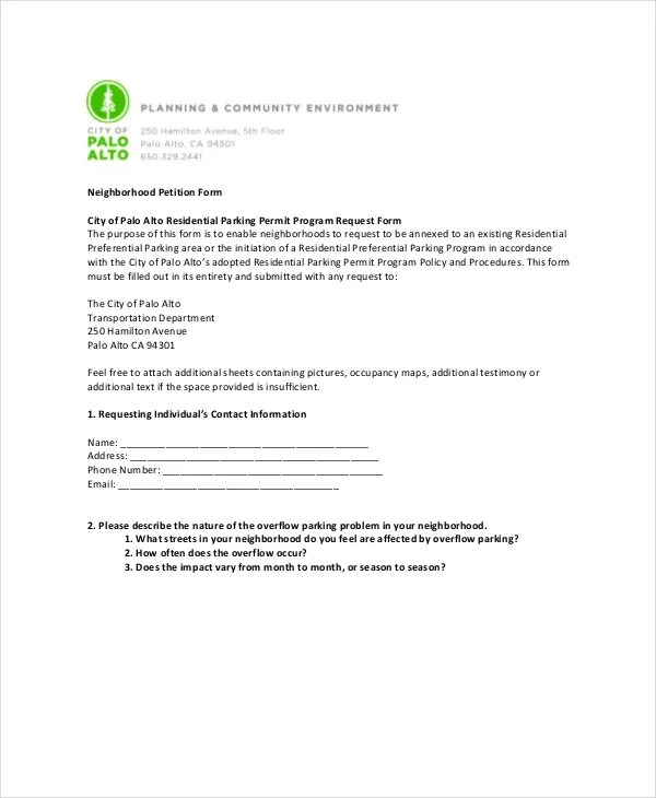 Petition Template - 11+ Free Word, PDF Documents Download Free - creating signers form for petition