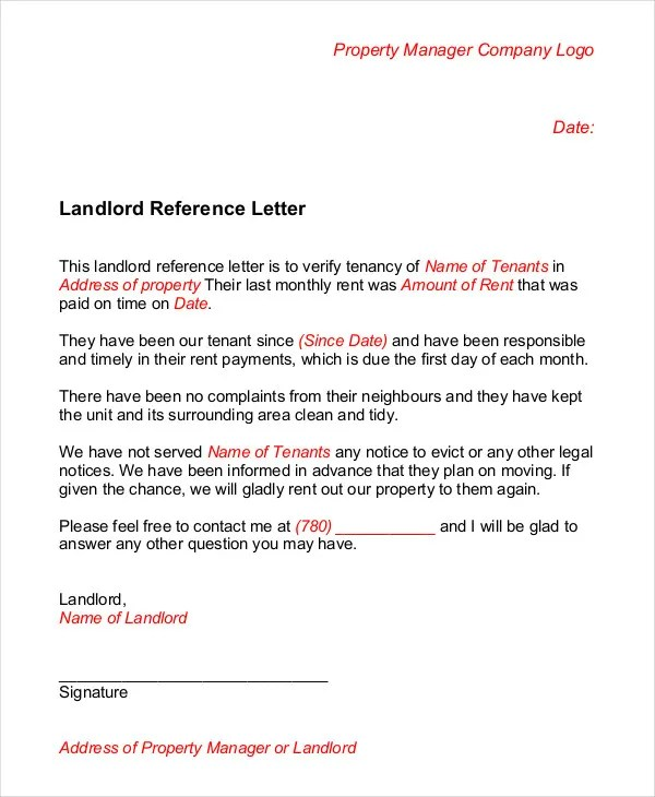 Tenant Recommendation Letter Sample Character Reference Letter - key features recommendation letter employment
