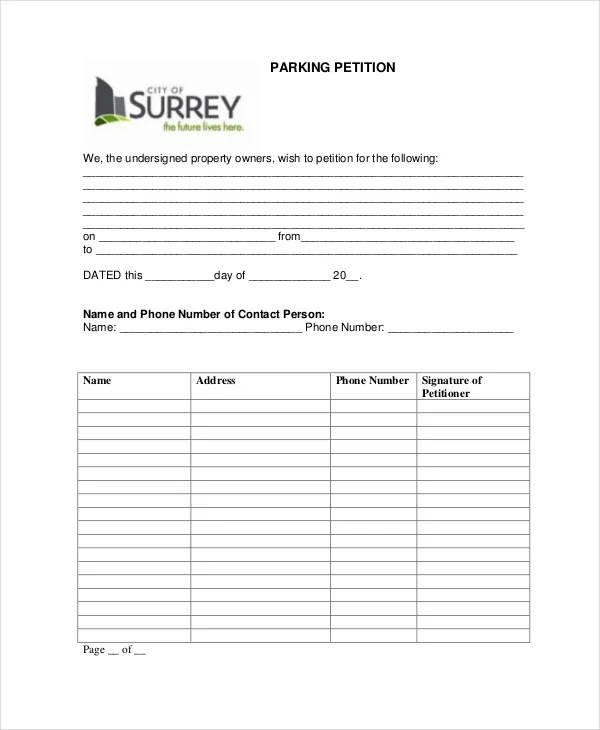 Petition Template - 11+ Free Word, PDF Documents Download Free