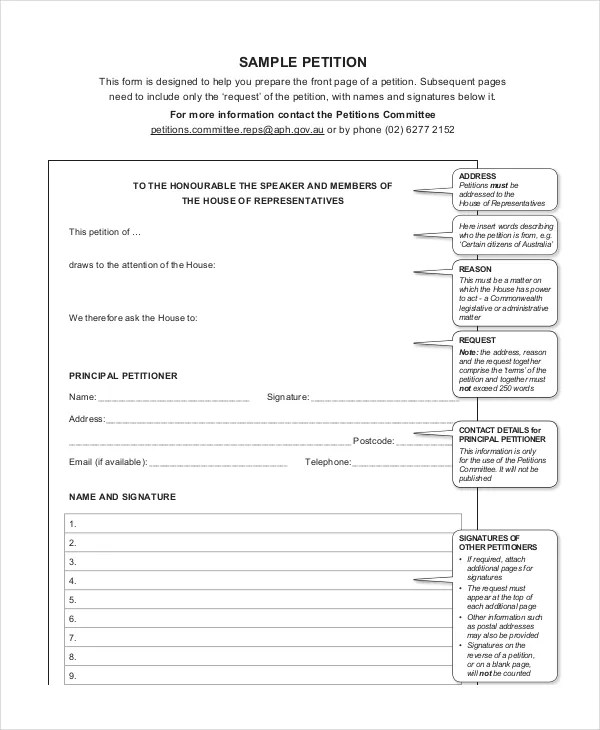 Petition Template - 11+ Free Word, PDF Documents Download Free - free petition templates examples