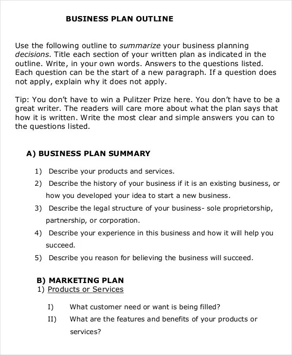 Business Proposal Template - 16+ Free Sample, Example, Format Free - sample business proposal outline