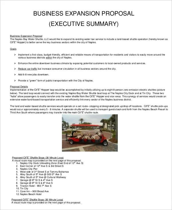 sample business project proposal
