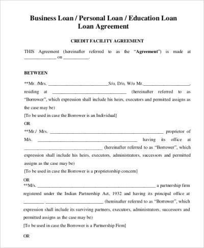 Loan Agreement Template - 19+ Free Word, PDF Format | Free & Premium Templates